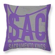Sacramento Kings City Poster Art Throw Pillow