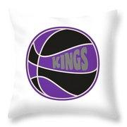 Sacramento Kings Retro Shirt Throw Pillow