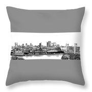 Sacramento Skyline N. Throw Pillow