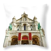 Sacre Coeur Basilica Throw Pillow