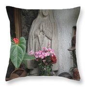 Sacred Guatelupe Throw Pillow
