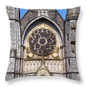 Sacred Heart Church Detail Roscommon Ireland Throw Pillow