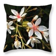 Sacred Heart Flowers Throw Pillow