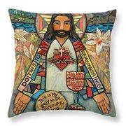 Sacred Heart Of Jesus Throw Pillow