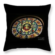 Sacred Heart Of Jesus Stained Glass Window Throw Pillow