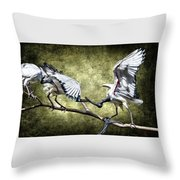 Sacred Ibis Photobombing Throw Pillow