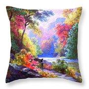 Sacred Landscape Meditation Throw Pillow