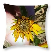 Sacred Sunflower Throw Pillow