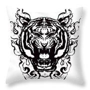 Sacred Tiger Throw Pillow