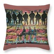 Sacrifice For Freedom Throw Pillow