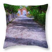 Sacromonte Abbey Entrance Throw Pillow