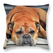 Sad Boy Throw Pillow