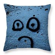 Sad Graffiti Throw Pillow