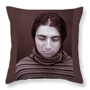 Sad Throw Pillow