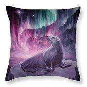 Sad Lonely Seal Throw Pillow