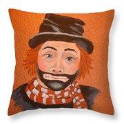 Sad Sack The Clown Throw Pillow
