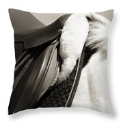 Saddle And Softness Throw Pillow
