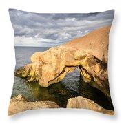 Saddle Rocks At High Tide Throw Pillow