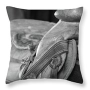 Saddle Sore Throw Pillow