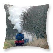 Saddle-tank Locomotive Puffing Uphill Throw Pillow