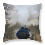 Saddle-tank Locomotive Throw Pillow