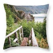 Saddle Trail Bridge Throw Pillow