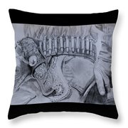 Saddled And Armed Throw Pillow