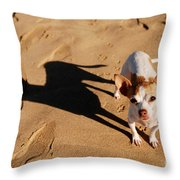 Sadie And Her Shadow Throw Pillow