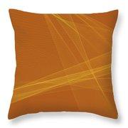Safari Computer Graphic Line Pattern Throw Pillow