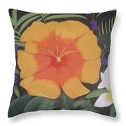 Safari Orange Throw Pillow by Melanie Blankenship