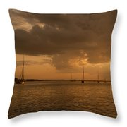 Safe Anchorage - River Colne Throw Pillow