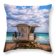 Safe Harbor In Oil Throw Pillow