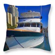 Yacht - Safe Harbor Series 39 Throw Pillow