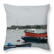 Safe Harbour On A Murky Day Throw Pillow