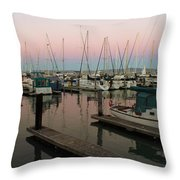 Safe In Harbor Throw Pillow