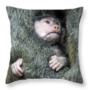 Safe In Mother's Arms Throw Pillow