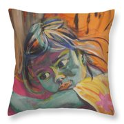 Safe In The Arms Of Grandma Throw Pillow