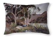 Safe Shelter  - Plein Air - Catalina Island Throw Pillow