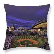 Safeco Field Throw Pillow by Dan McManus