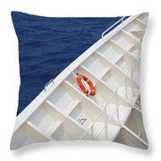 Safety At Sea Throw Pillow
