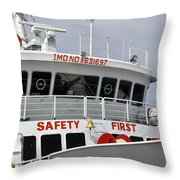 Safety Bell Throw Pillow