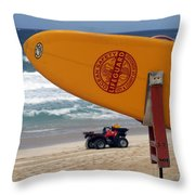 Safety First, Oahu Throw Pillow