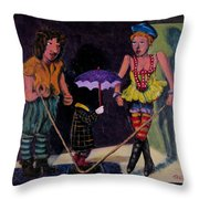 Safety Net Without Strings Throw Pillow