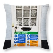 Safety Sign Throw Pillow