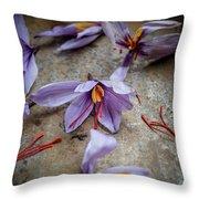 Saffron Flower Throw Pillow