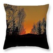 Saffron Sunset Throw Pillow