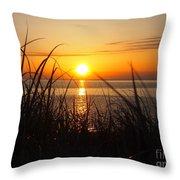 Sagamore Beach Early Throw Pillow