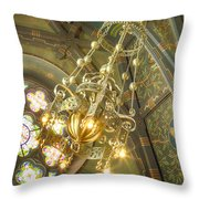 Sage Chapel Ceiling And Light Throw Pillow