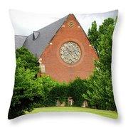 Sage Chapel Cornell University Ithaca New York 02 Throw Pillow
