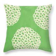 Sage Garden Bloom Throw Pillow by Linda Woods